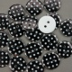 Black 16.75g Plastic Buttons Round Polka Dot Spots, 2 Hole 18mm 18mm