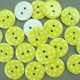 Yellow 16.75g Plastic Buttons Round Polka Dot Spots, 2 Hole 18mm 18mm
