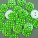 Green 16.75g Plastic Buttons Round Polka Dot Spots, 2 Hole 18mm 18mm