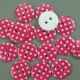 Dark Pink 16.75g Plastic Buttons Round Polka Dot Spots, 2 Hole 18mm 18mm